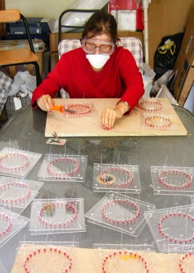 soldering circles red
