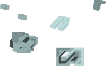 Singular brick 3D concept